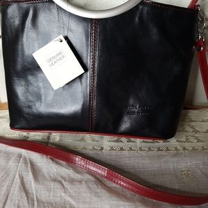 Vera Pella Italy leather shoulder bag NWT